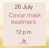Caviar mask treatment!