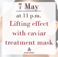Lifting effect with caviar treatment mask