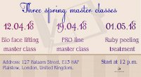 Three spring master classes