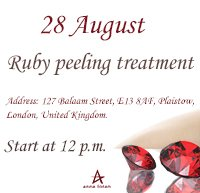 Ruby peeling treatment!