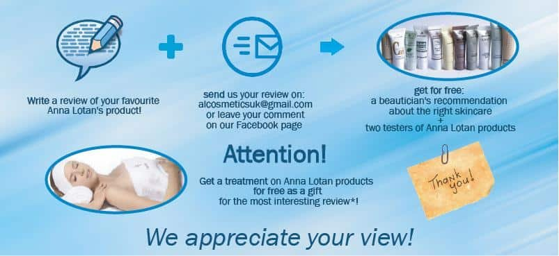 Get a TREATMENT on Anna Lotan products FOR FREE as a gift!